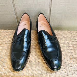 J Crew J8501 Academy Loafers Black Patent Leather
